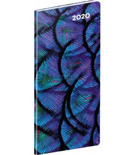Vreckový diár Detail SK 2020, plánovací mesačný, 8 x 18 cm