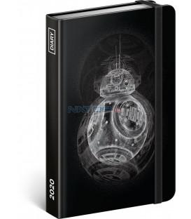 Týždenný diár Star Wars – BB8 2020, 11 × 16 cm