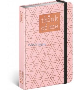Týždenný diár Geometric – Think of me 2020, 11 × 16 cm