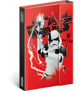 Týždenný magnetický diár Star Wars 2020, 11 × 16 cm