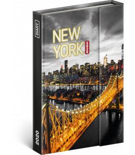 Týždenný magnetický diár New York 2020, 11 × 16 cm