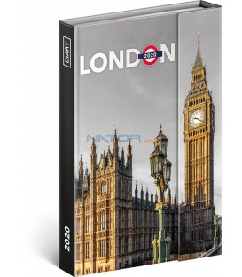 Týždenný magnetický diár Londýn 2020, 11 × 16 cm