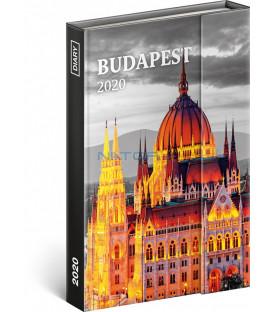 Týždenný magnetický diár Budapešť 2020, 11 × 16 cm