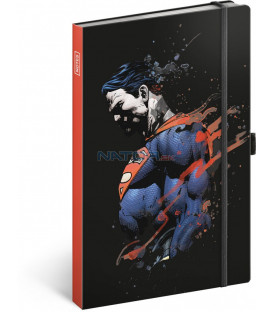 Notes Superman, linajkovaný, 13 x 21 cm