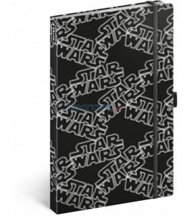 Notes Star Wars Black, linajkovaný, 13 x 21 cm