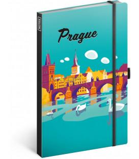 Notes Praha, linajkovaný, 13 x 21 cm