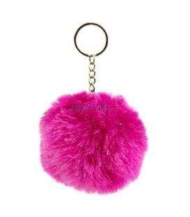 BAAGL Chlpatý prívesok na kľúče, ružový