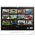 Nástenný kalendár Autá 2020, 48 x 33 cm