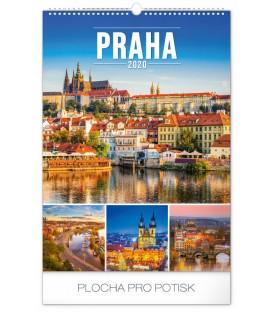 Nástenný kalendár Praha 2020, 33 x 46 cm