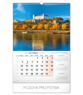 Nástenný kalendár Historické miesta Slovenska 2020, 33 x 46 cm