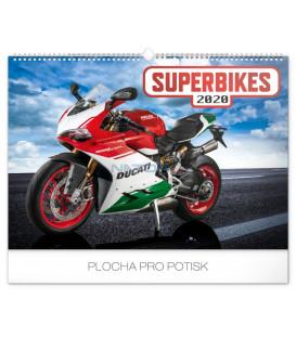 Nástenný kalendár Superbikes 2020, 48 x 33 cm