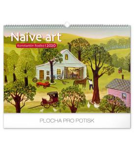 Nástenný kalendár Naivné umenie – Konstantin Rodko 2020, 48 x 33 cm