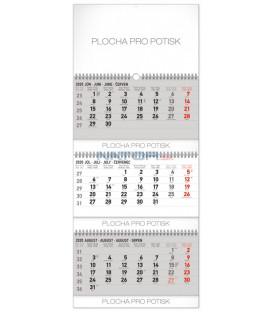 Nástenný kalendár 3měsíční standard skládací SK 2020, 29,5 x 72 cm