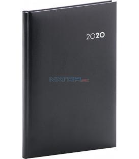 Týždenný diár Balacron 2020, čierny, 15 x 21 cm