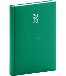 Denný diár Capys 2020, zelený,15 x 21 cm
