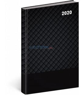 Denný diár Cambio Classic 2020, čierny, 15 x 21 cm
