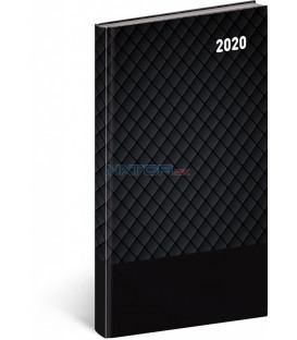 Vreckový diár Cambio Classic 2020, čierny, 9 x 15,5 cm