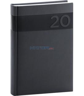 Denný diár Aprint 2020, čierny, 15 x 21 cm