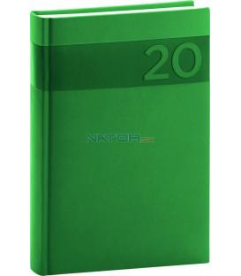 Denný diár Aprint 2020, zelený, 15 x 21 cm