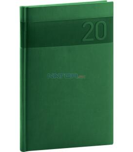 Týždenný diár Aprint 2020, zelený, 15 x 21 cm