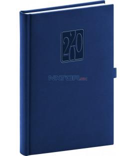 Denný diár Vivella Classic 2020, modrý, 15 x 21 cm