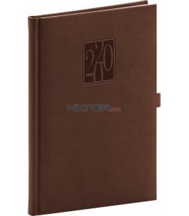 Týždenný diár Vivella Classic 2020, hnedý, 15 x 21 cm