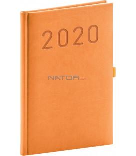 Týždenný diár Vivella Fun 2020, oranžový, 15 x 21 cm