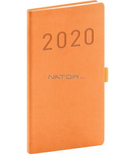 Vreckový diár Vivella Fun 2020, oranžový, 9 x 15,5 cm