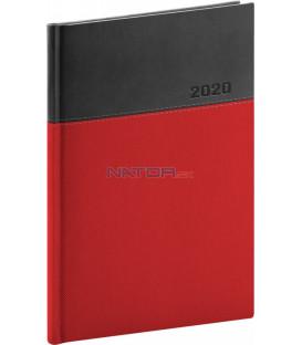 Týždenný diár Dado 2020, červeno-čierny, 15 x 21 cm