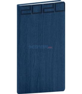 Vreckový diár Forest 2020, modrý, 9 x 15,5 cm