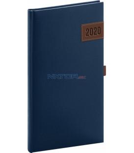 Vreckový diár Tarbes 2020, modrý, 9 x 15,5 cm