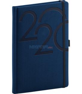 Týždenný diár Ajax 2020, modrý, 15 x 21 cm