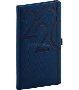 Vreckový diár Ajax 2020, modrý, 9 x 15,5 cm