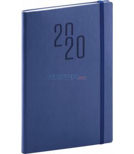 Týždenný diár Soft 2020, modrý, 15 x 21 cm