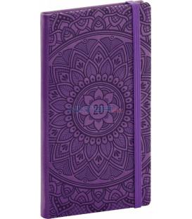 Vreckový diár Vivella Špeciál 2020, mandala 2020, 9 x 15,5 cm