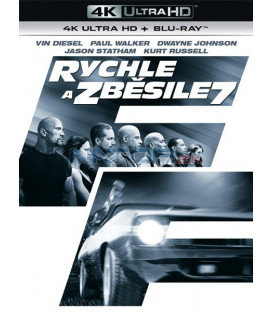 RYCHLE A ZBĚSILE 7 (Fast & Furious7) UHD+BD - 2 x Blu-ray