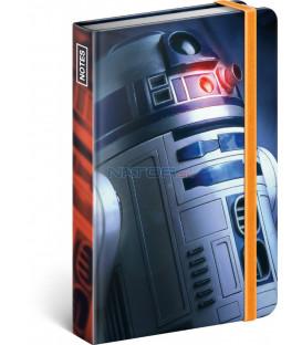 Notes Star Wars – Blue, linajkovaný, 11 × 16 cm