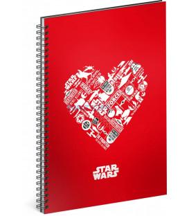Špirálový blok Star Wars – Red, čistý, A5
