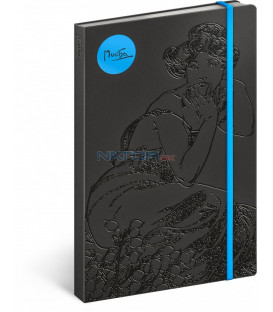 Notes Alfons Mucha – Topas, linajkovaný, 13 x 21 cm
