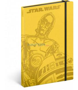 Notes Star Wars – Droids, linajkovaný, 13 x 21 cm