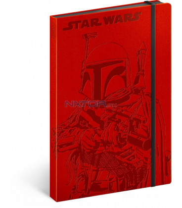 Notes Star Wars – Hunter, čistý, 13 x 21 cm