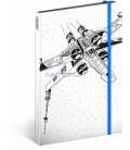 Notes Star Wars – X-Wing, čistý, 13 x 21 cm