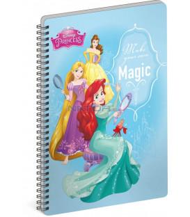 Špirálový blok Princezné – Magic, A4, linajkovaný