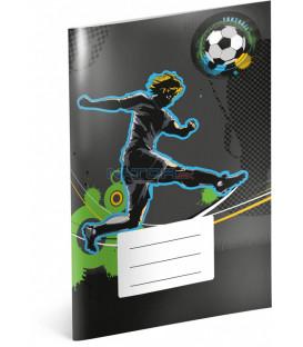 Školský zošit Futbal, A5, 40 listov, linajkovaný