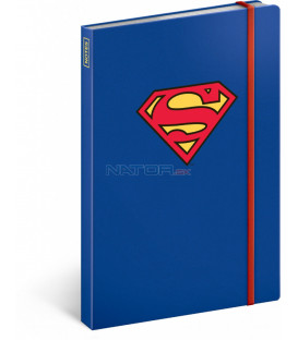 Notes Superman – Symbol, linajkovaný, 13 x 21 cm