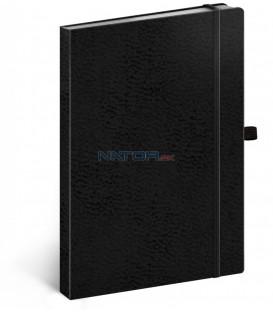 Notes Vivella Classic čierny/čierny, bodkovaný, 15 x 21 cm