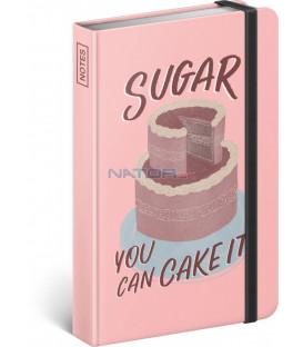 Notes Sugar – Studio Tabletters, linajkovaný, 11 × 16 cm