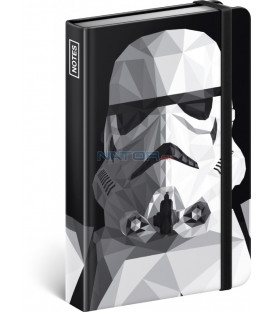 Notes Star Wars – Clone, linajkovaný, 11 × 16 cm