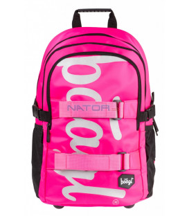 BAAGL Školský batoh skate Pink