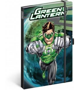 Notes Green Lantern, linajkovaný, 13 x 21 cm